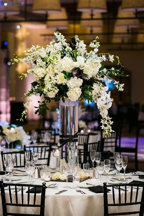 stylish black white wedding white wedding flowers wedding