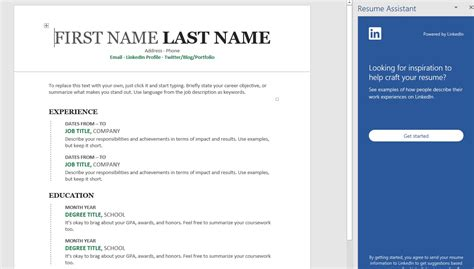 microsoft word resume assistant job linkedin pcworld