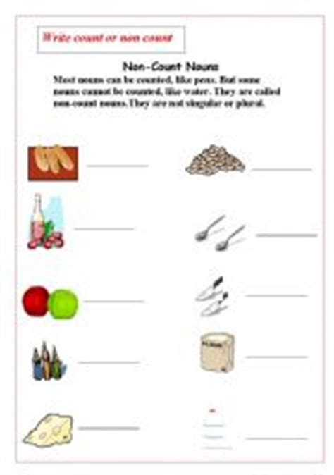 english worksheets count nouns