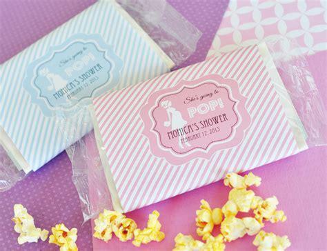 pop microwave popcorn baby shower favors