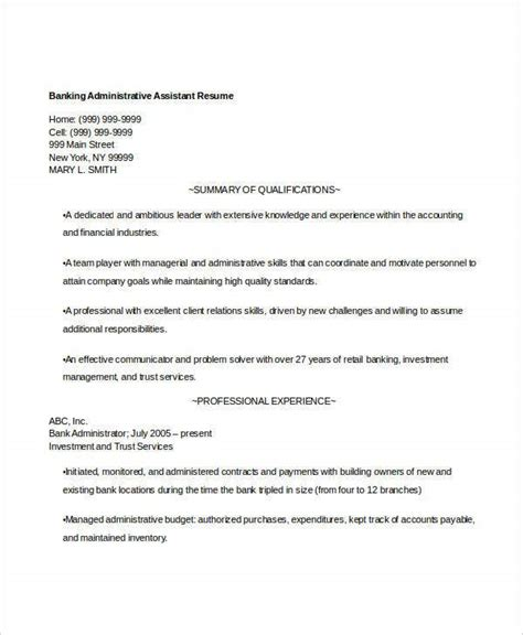 14 banking resume templates word free premium templates