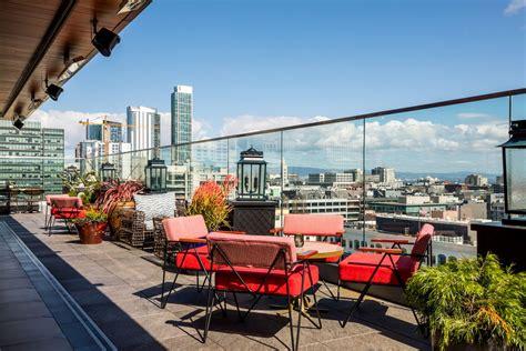 virgin hotels sf opens rooftop bar everdene views