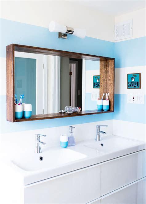 big sea bright apartment interiors bathroom mirror design