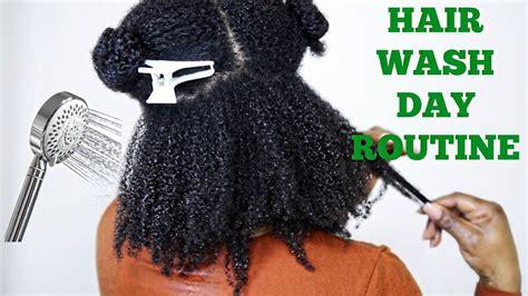 full natural hair wash day routine 4a 4b