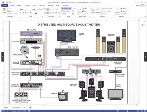 create visio audio video wiring diagrams netzoom
