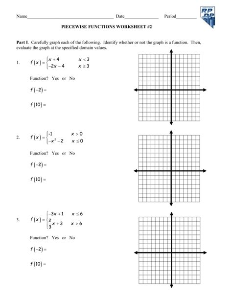 Piecewise Functions Worksheet Answers Scriptclub Org