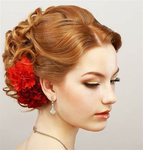 rockabilly hairstyles updo hairstyle red hair curly red