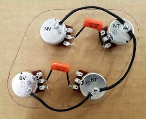 upgraded 50s style epiphone les paul wiring harness