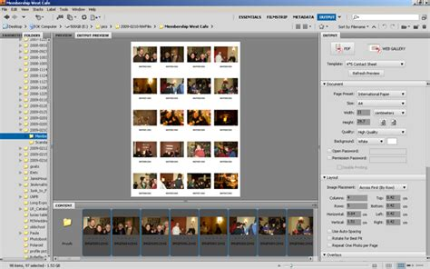 adobe bridge quickly easily contact sheets id tech