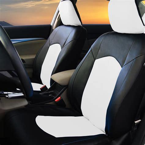 black white pu leather car seat cover set