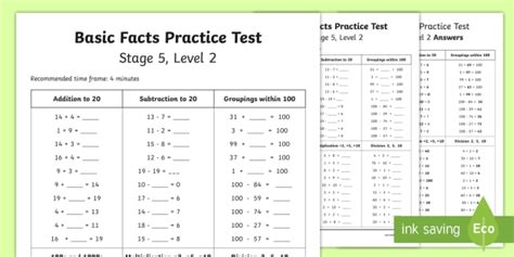 number knowledge stage 5 practice test 1 stage