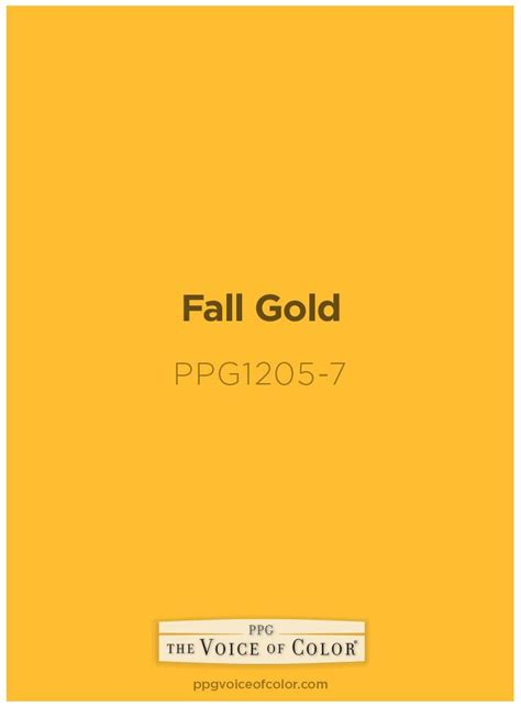 fall gold ppg1205 7 gold paint colors paint