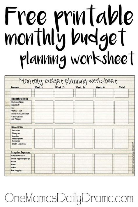 printable monthly budget worksheet images monthly budget printable