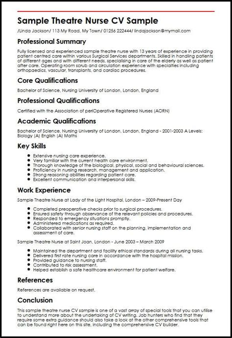 australian nurse cv resume exles resume template