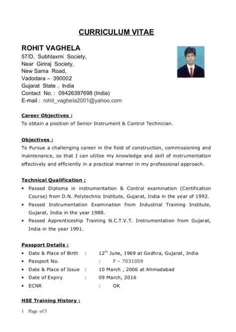 1 year experience mechanical engineer resume