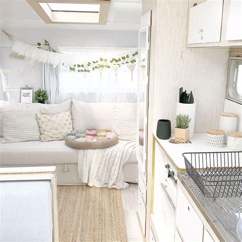 vintage viscount caravan renovation gypsy boho interior original
