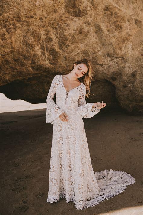 juliet lace bohemian wedding dress dreamers lovers