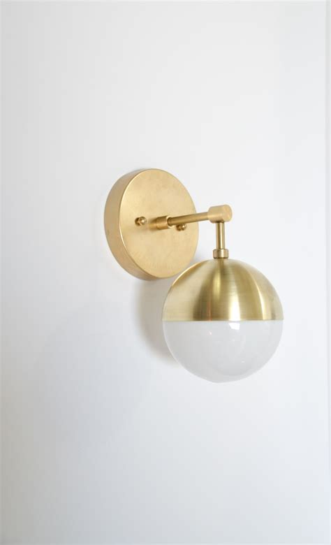 pin chenfei 灯具 brass wall sconce glass wall