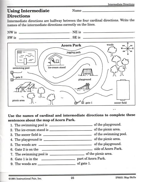 21 awesome directions worksheet geography worksheets
