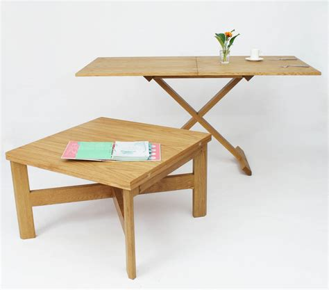 oak convertable eco coffee table dining table