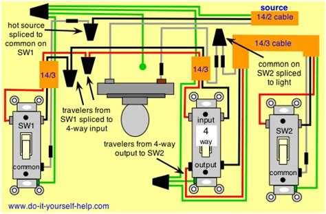 4 switch wired 3way 4way ran junction box