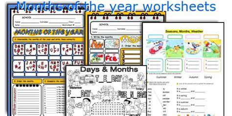english teaching worksheets months year