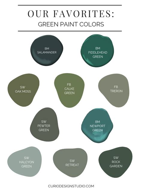 favorite green paint colors st paddy day curio