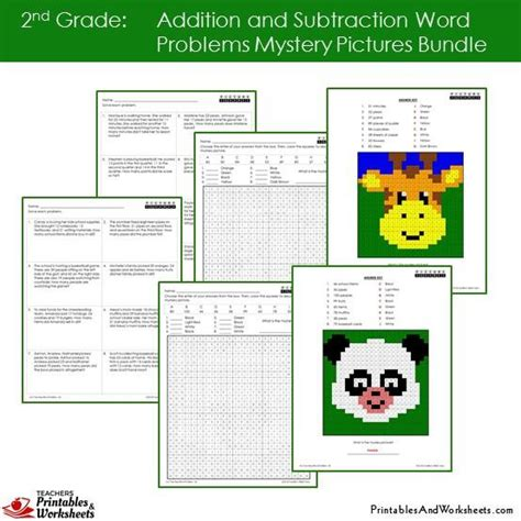 2nd grade addition subtraction word problems coloring worksheets