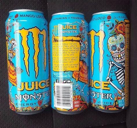 3x monster energy drink 16oz mango loco 2017