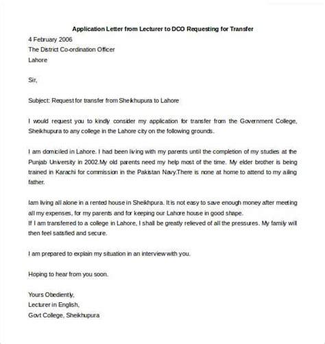 44 free transfer letter templates google doc excel