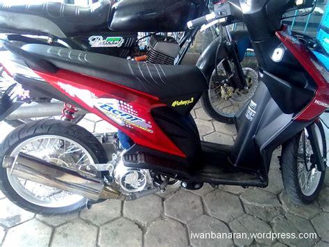 iwanbanaran motorcycles modif minimalis honda beat garang