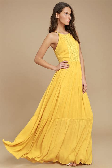 lovely golden yellow maxi dress embroidered maxi dress