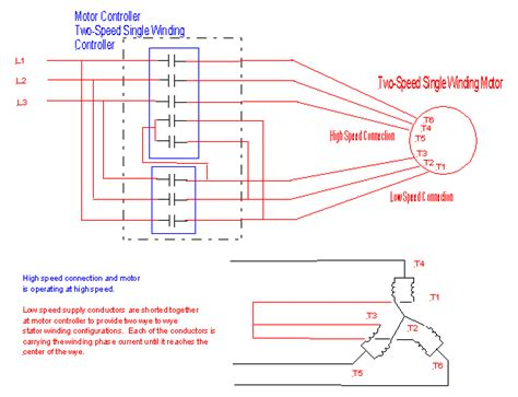 speed 3 phase motor wiring question