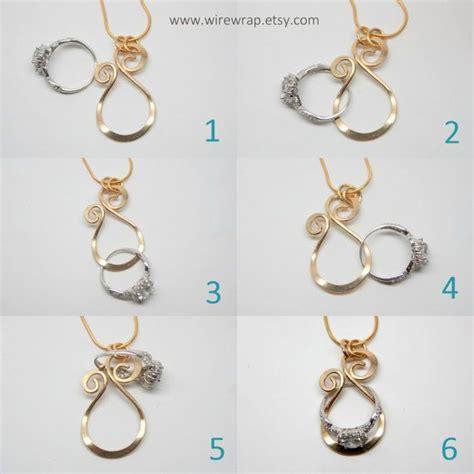 magic ring holder necklace wedding engagement ring wirewrap
