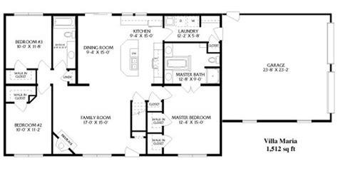 simple open ranch floor plans style villa maria