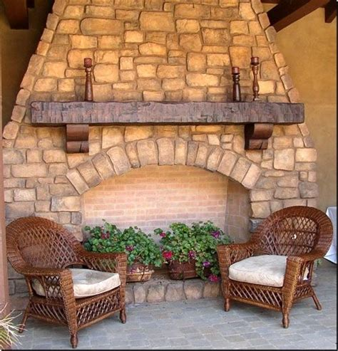 create rustic style fireplace cedar mantels homesfeed outdoor