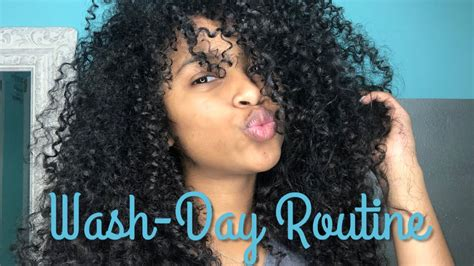curly hair wash day routine youtube