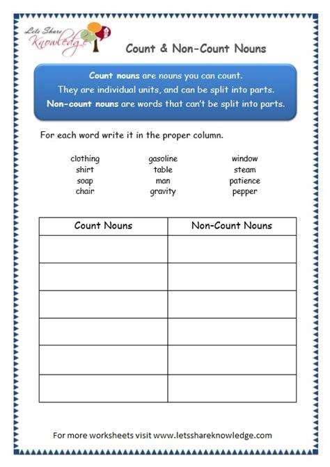 grade 3 grammar topic 12 count noncount nouns