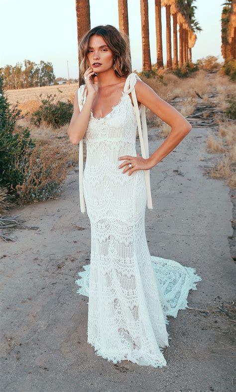 keeffe backless lace bohemian wedding dresses open weddi