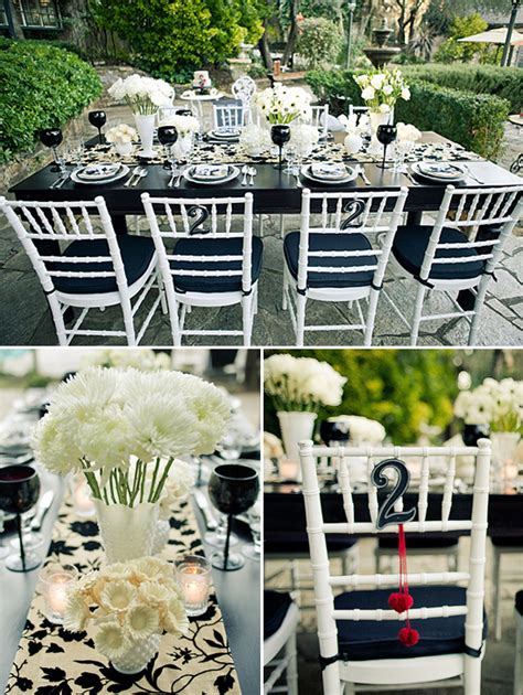 red black white wedding ideas