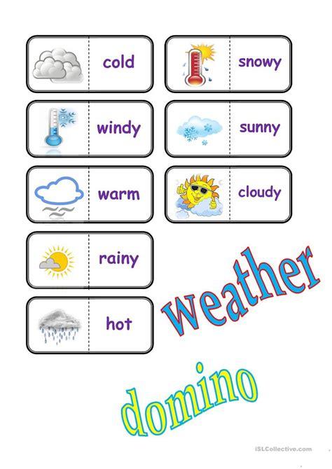 weather domino worksheet free esl printable worksheets teachers