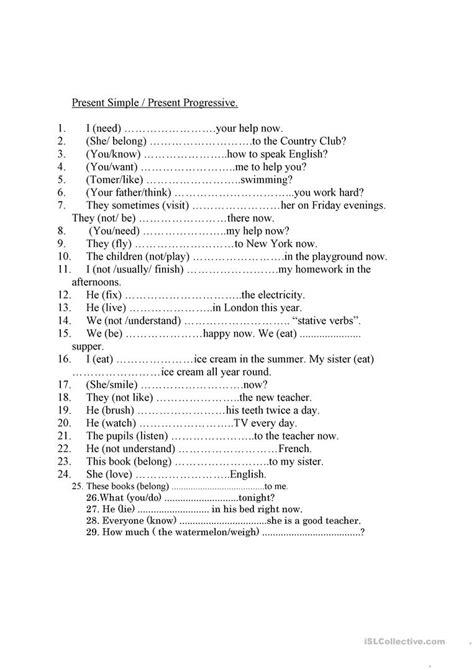 stative verbs worksheet free esl printable worksheets teachers