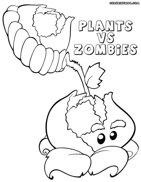 plants zombies coloring pages coloring pages download print