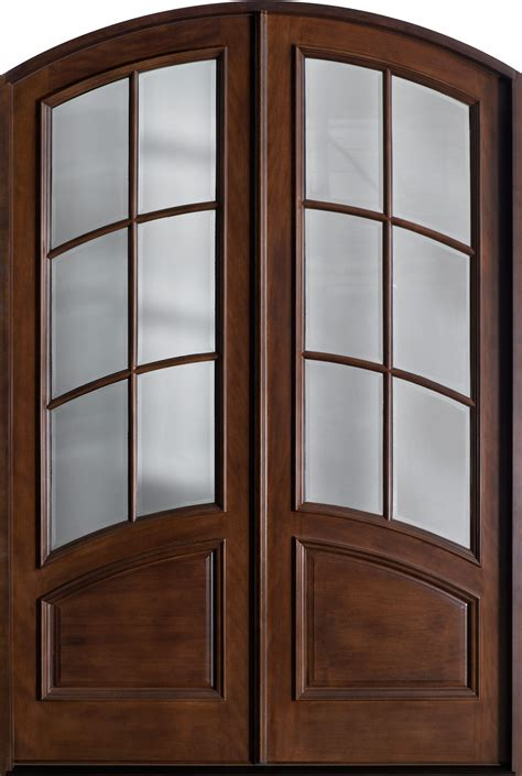 entry door stock double solid wood walnut finish