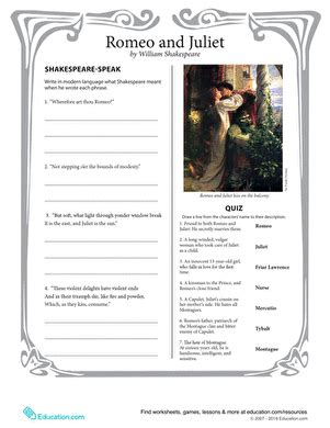 Matching Worksheet Romeo And Juliet.html
