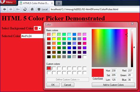 html5 color picker php hosts