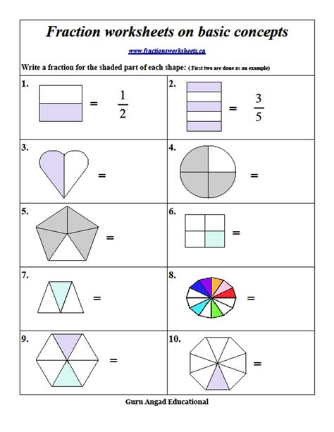 2nd grade math basic fractions review 1 steemkr