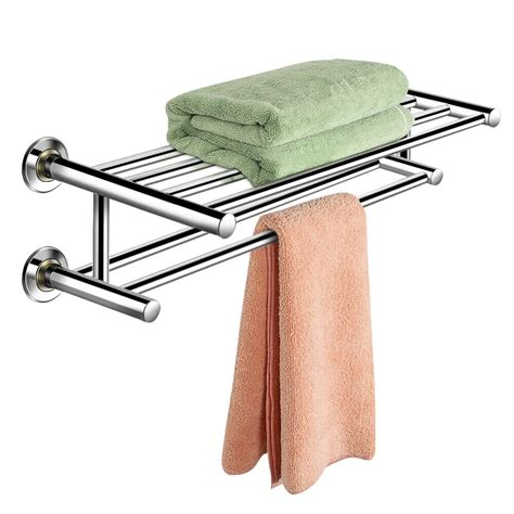 wall mounted towel rack bathroom hotel rail holder