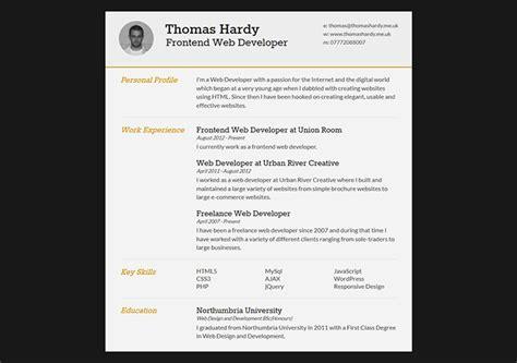 30 free cv resume templates html indesign bashooka