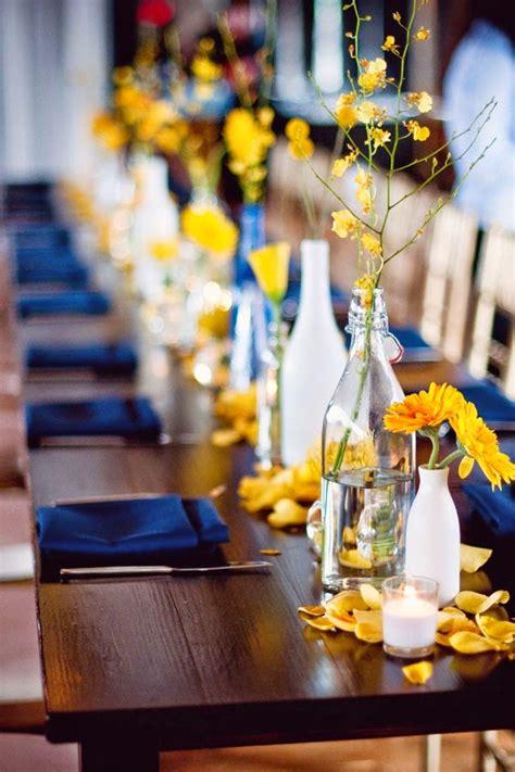 confetti blog yellow blue wedding ideas real flower